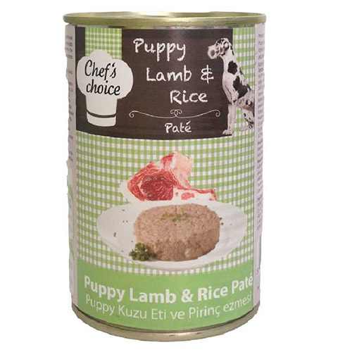 Chefs Choice Puppy Lamb Rice Pate Konservexi 400 Gr